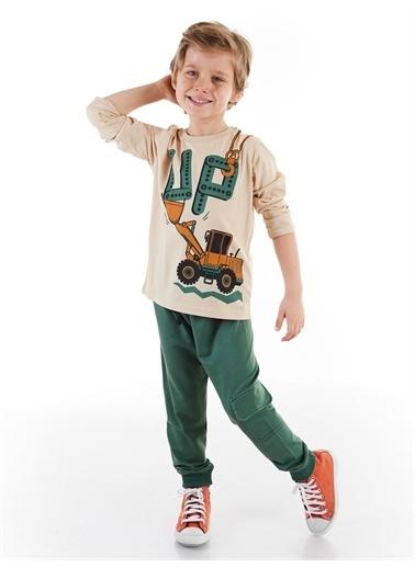 Denokids Up Dozer Erkek Çocuk Pantolon Takım Renkli